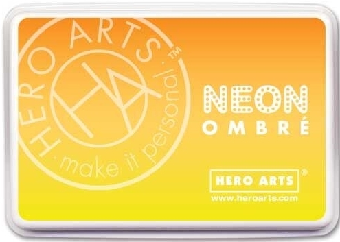 Hero Arts Ombre Neon YELLOW TO ORANGE Ink Pad AF328 zoom image