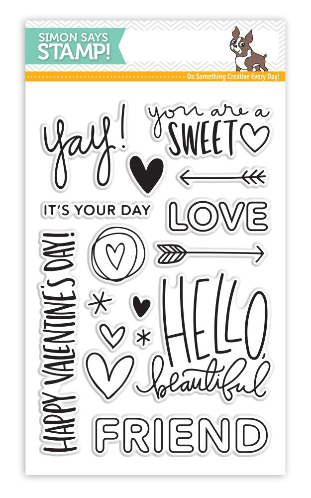 Simon Says Clear Stamps HELLO BEAUTIFUL sss101603 zoom image