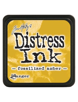 Tim Holtz Distress Mini Ink Pad FOSSILIZED AMBER Ranger TDP46783 Preview Image
