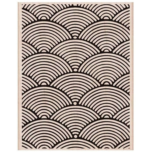 Hero Arts Rubber Stamp Designblock WAVE PATTERN BACKGROUND S6144 Preview Image