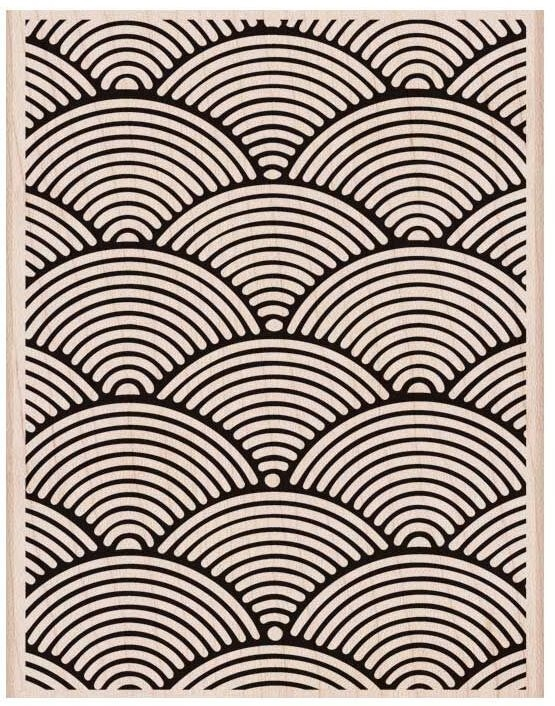 Hero Arts Rubber Stamp Designblock WAVE PATTERN BACKGROUND S6144 zoom image