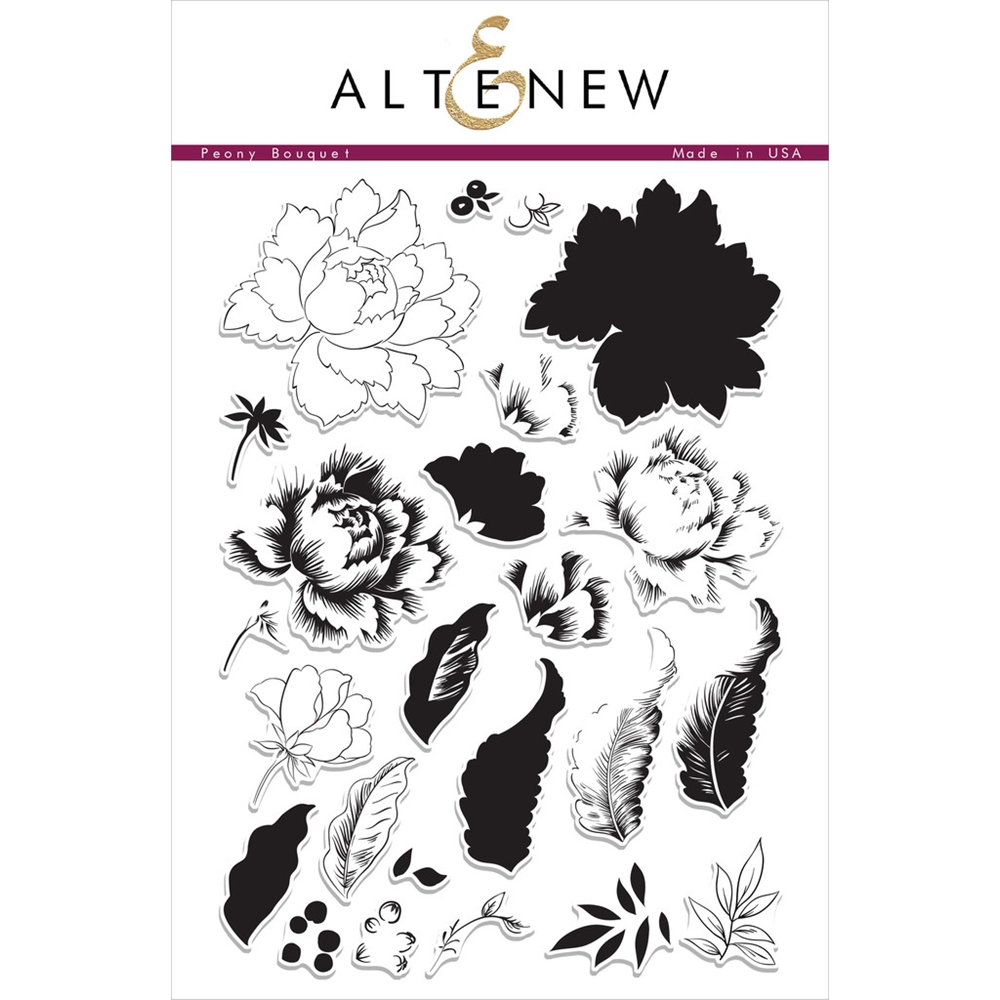 Altenew PEONY BOUQUET Clear Stamp Set ALT1030 zoom image