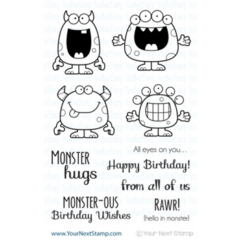 Your Next Stamp SILLY MONSTERS Clear CYNS047