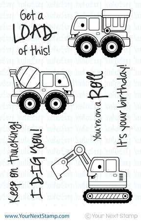 Your Next Stamp KEEP ON TRUCKING Clear CYNS115 Preview Image