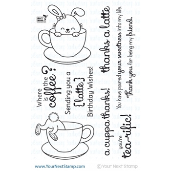 Your Next Stamp SPRINKLES COFFEE AND TEA Clear CYNS178