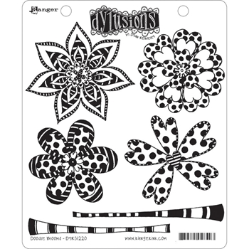 Dyan Reaveley DOODLE BLOOMS Dylusions Cling Stamp Set DYR51220*