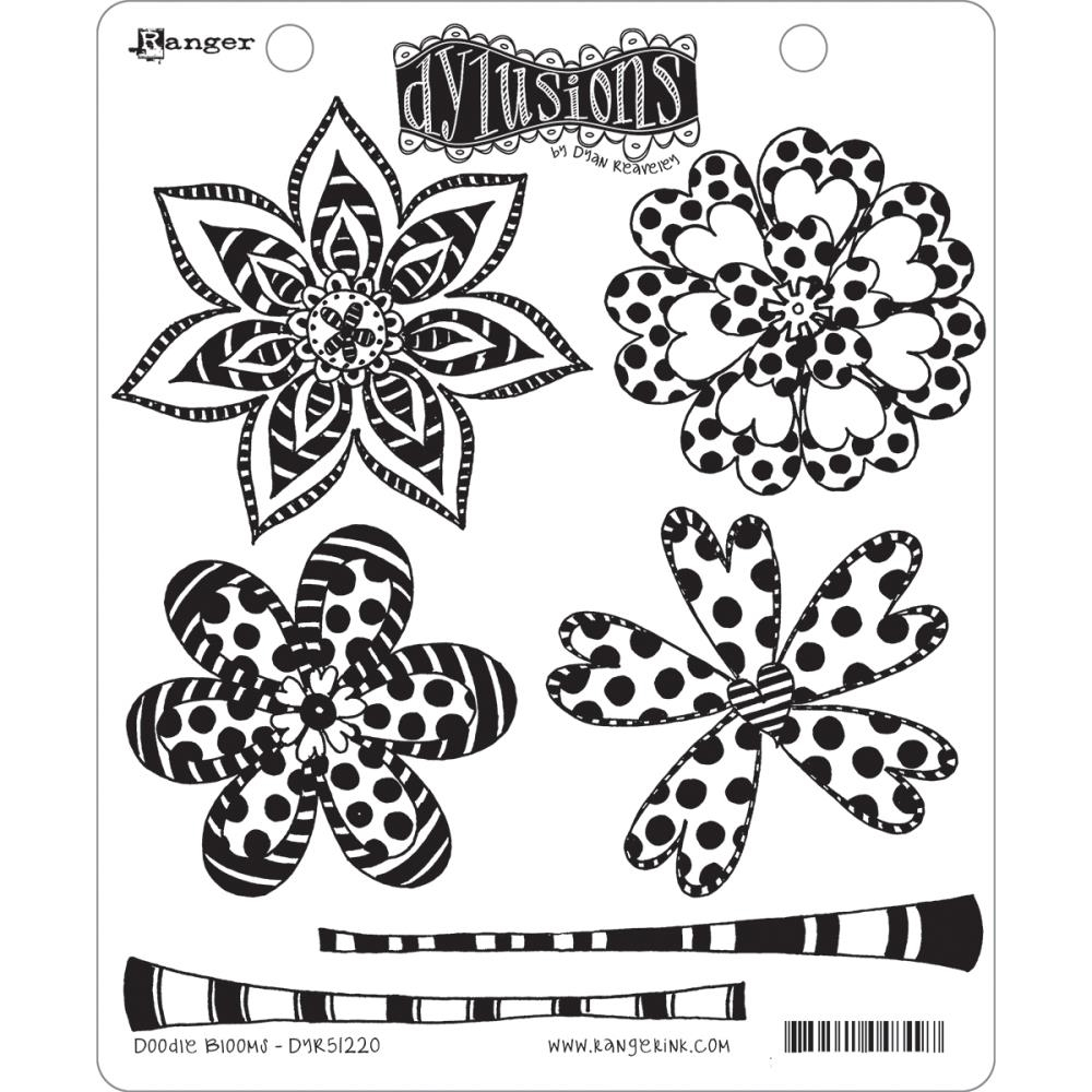 Dyan Reaveley DOODLE BLOOMS Dylusions Cling Stamp Set DYR51220 zoom image