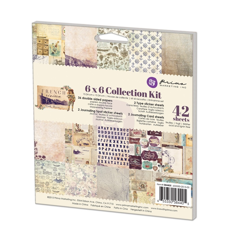 Prima Marketing FRENCH RIVIERA 6 x 6 Collection Kit 584405 zoom image