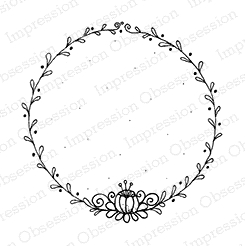 Impression Obsession Cling Stamp Circle- VINES F19094 * Preview Image