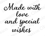 Impression Obsession Cling Stamp MADE WITH LOVE C9877* zoom image