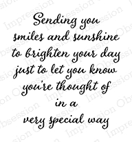 Impression Obsession Cling Stamp SENDING SMILES AND SUNSHINE D9988 zoom image