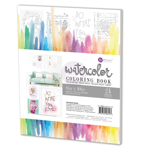 Prima Marketing WATERCOLOR COLORING BOOK 585723 Preview Image