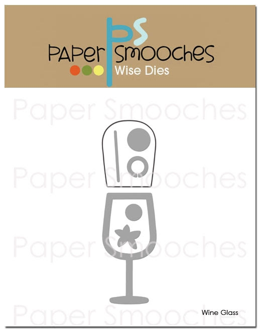 Paper Smooches WINE GLASS Wise Dies FBD310 zoom image