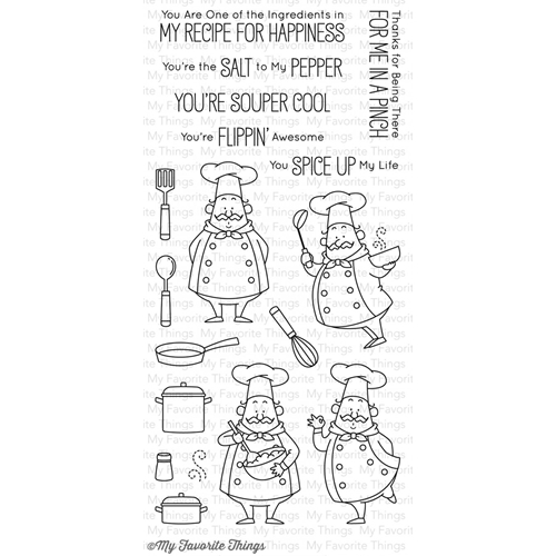 My Favorite Things RECIPE FOR HAPPINESS Clear Stamps BB30 Preview Image
