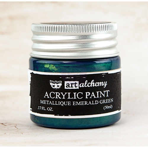 Prima Marketing METALLIQUE EMERALD GREEN Art Alchemy Acrylic Paint 963170 Preview Image
