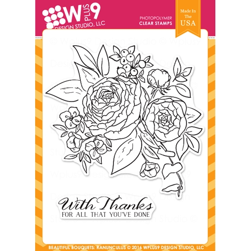 Wplus9 BEAUTIFUL BOUQUET RANUNCULUS Clear Stamps CLWP9BBR Preview Image