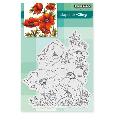 Penny Black POPPY GEMS Cling Stamp Set 40-447 Preview Image