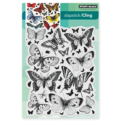 Penny Black BUTTERFLY CHARMER Cling Stamp Set 40-442 Preview Image