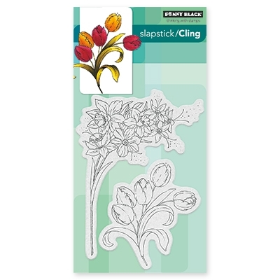 Penny Black FLOWER GALA Cling Stamp Set 40-437 Preview Image