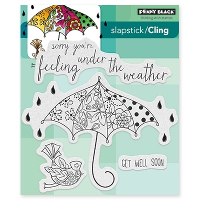 Penny Black FEEL WELL Cling Stamp Set 40-433 zoom image