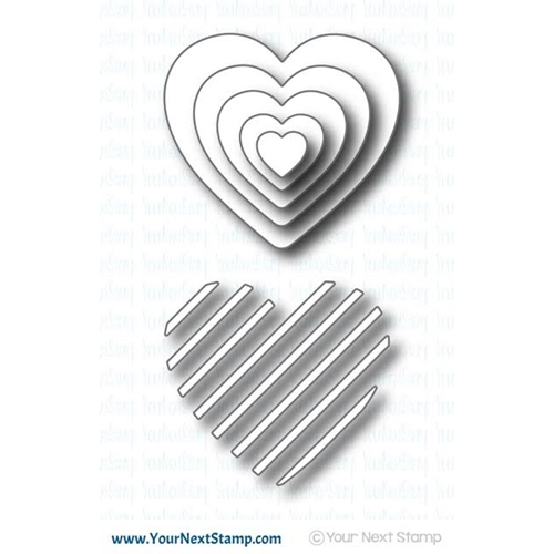 Your Next Die STRIPETASTIC HEART YNSD395* Preview Image