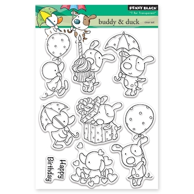 Penny Black BUDDY AND DUCK Clear Stamp Set 30-336 Preview Image