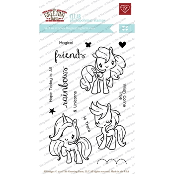 The Greeting Farm MAGICAL FRIENDS Clear Stamps TGF225