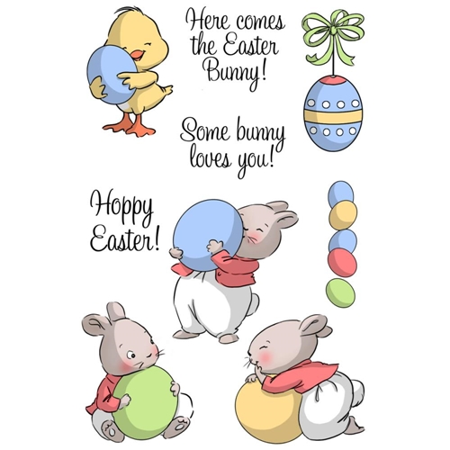 Art Impressions HOPPY EASTER Clear Stamp Set 4754 Preview Image