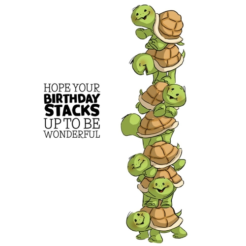 Art Impressions TURTLE STACKERS Cling Rubber Stamps 4741 Preview Image