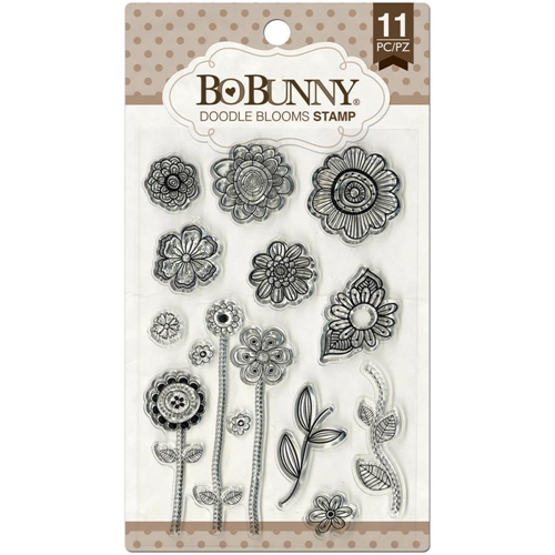 BoBunny DOODLE BLOOMS Clear Stamps 12105441 Preview Image