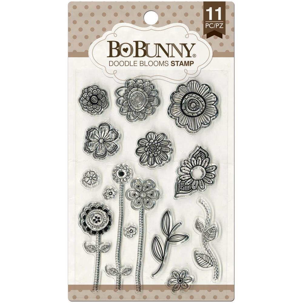 BoBunny DOODLE BLOOMS Clear Stamps 12105441 zoom image