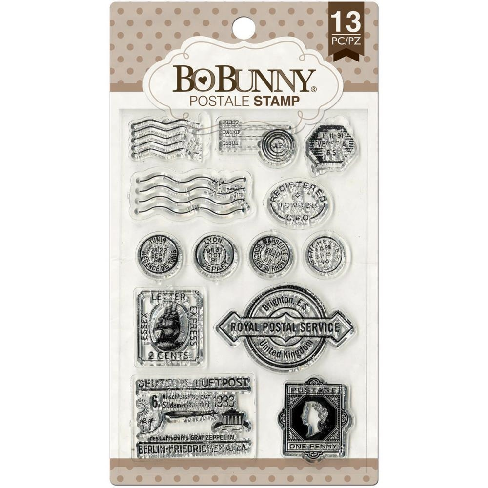 BoBunny POSTALE Clear Stamps 12105445 zoom image
