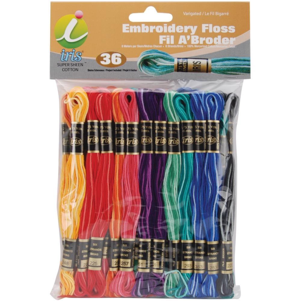 Iris Embroidery Floss Pack VARIEGATED COLORS 1260 * zoom image