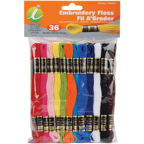 Iris Embroidery Floss Pack PRIMARY COLORS 1250 Preview Image
