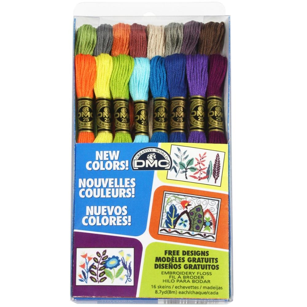DMC Embroidery Floss Pack NEW COLORS 117F25CM16 zoom image