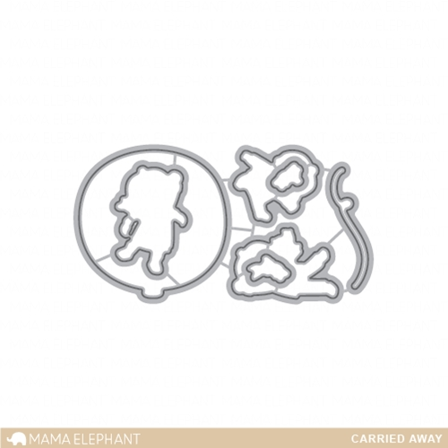 Mama Elephant CARRIED AWAY Creative Cuts Steel Die SET* Preview Image