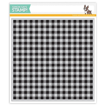 Simon Says Cling Stamp GINGHAM BACKGROUND SSS101596 Reason To Smile