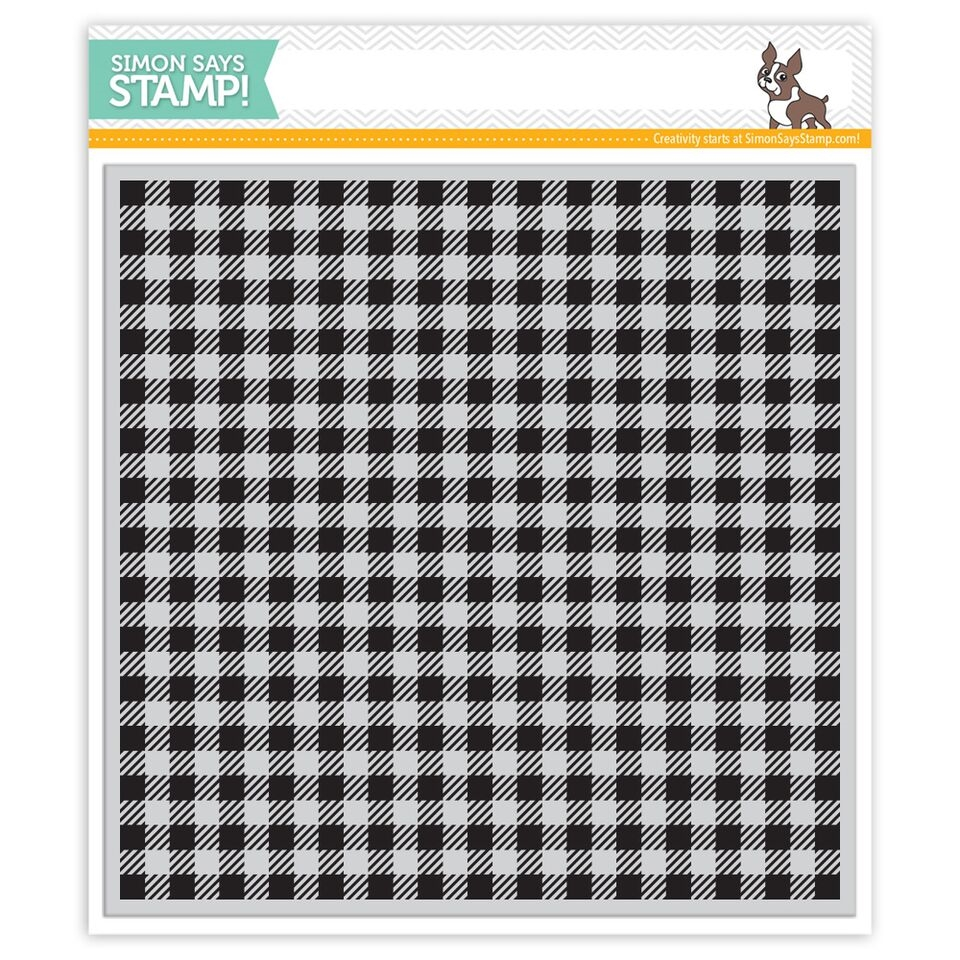 Simon Says Cling Stamp GINGHAM BACKGROUND SSS101596 Reason To Smile zoom image