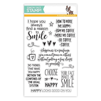 Simon Says Clear Stamps CHOOSE HAPPY SSS101617 Reason To Smile
