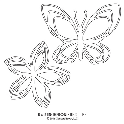 Concord & 9th FLORAL & FLUTTER Die 10065C9* Preview Image