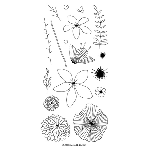 Concord & 9th WILDFLOWER Clear Stamp Set 10064C9 Preview Image