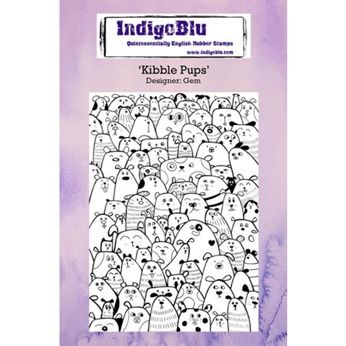 IndigoBlu Cling Stamp KIBBLE PUPS Rubber IND0233* Preview Image