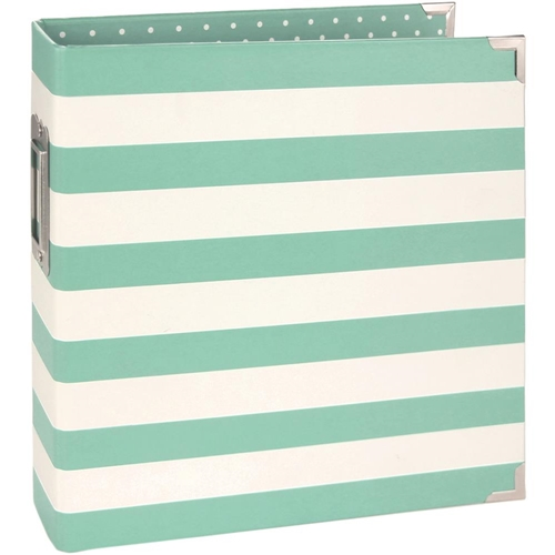 Simple Stories ROBIN'S EGG STRIPED 6 x 8 Designer Snap Binder 3995 Preview Image