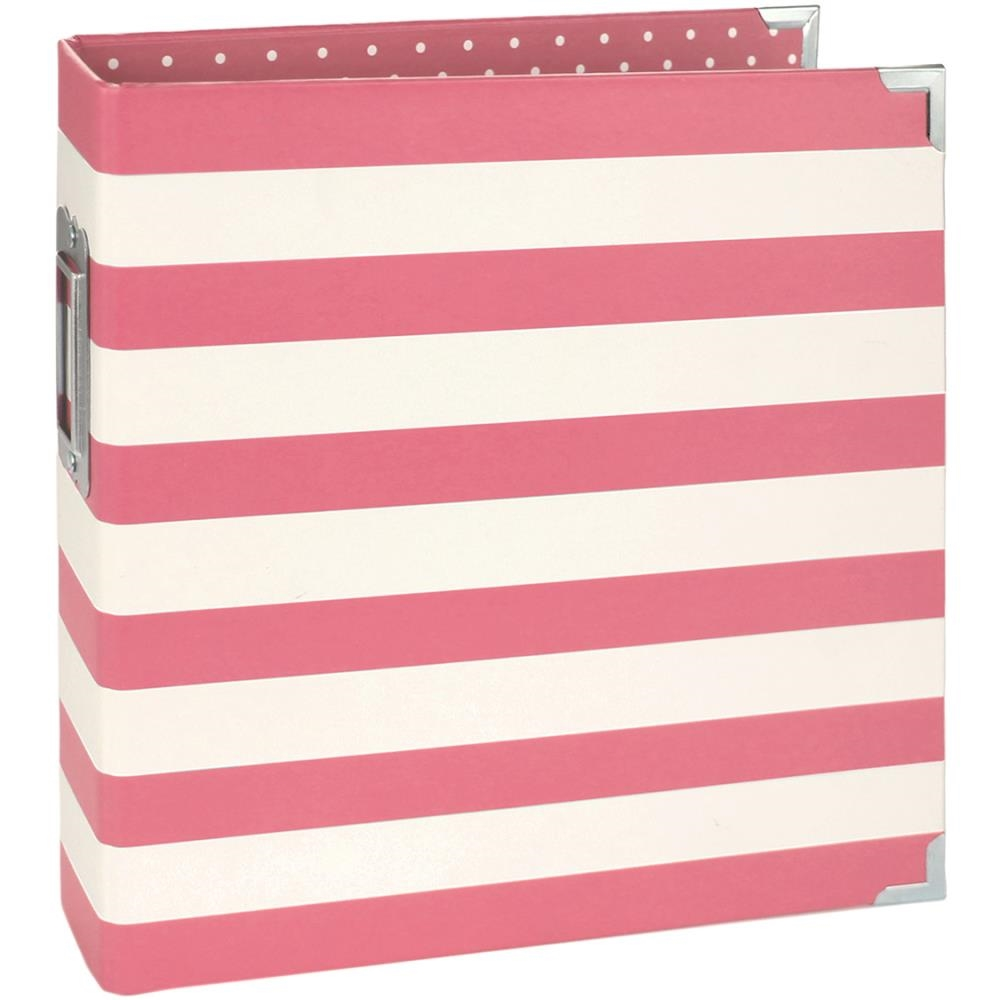 Simple Stories PINK STRIPED 6 x 8 Designer Snap Binder 3996 zoom image