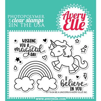 Avery Elle Clear Stamp BE A UNICORN ST 16 04