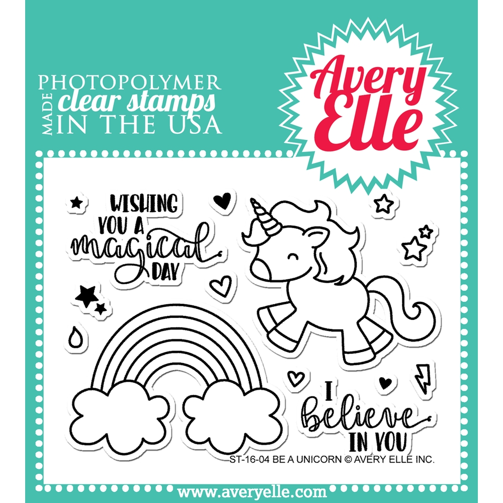 Avery Elle Clear Stamp BE A UNICORN ST 16 04 zoom image