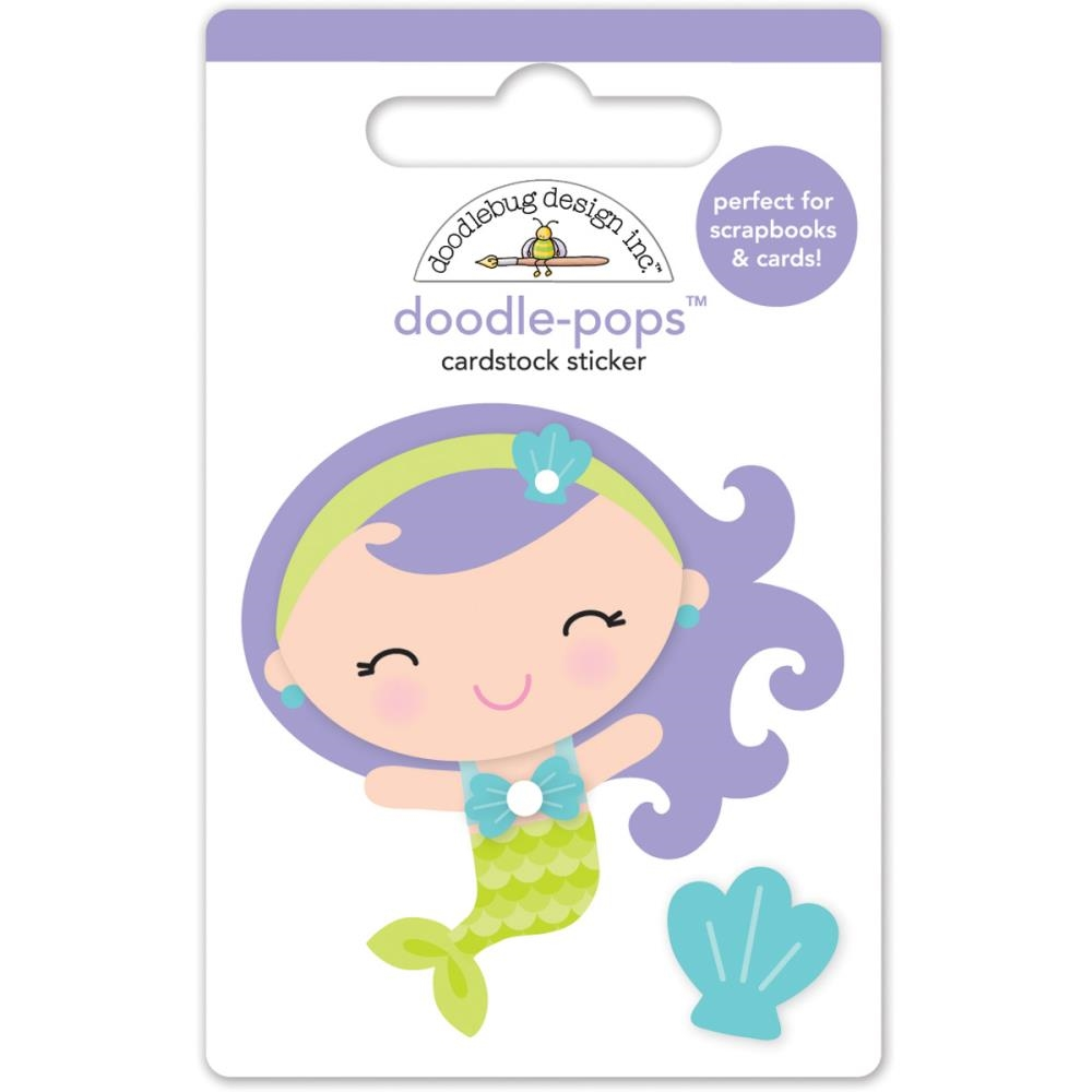 Doodlebug MINI MERMAID Under the Sea Doodle Pops 3D Stickers 4979 zoom image
