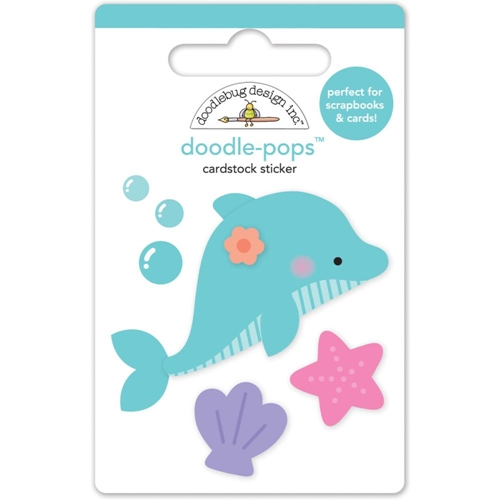 Doodlebug DAISY DOLPHIN Under the Sea Doodle Pops 3D Stickers 4980  Preview Image