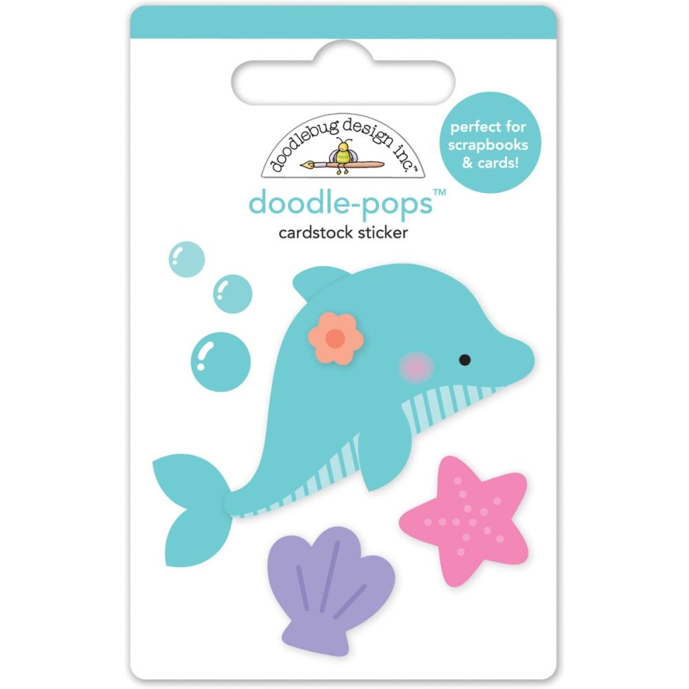 Doodlebug DAISY DOLPHIN Under the Sea Doodle Pops 3D Stickers 4980  zoom image
