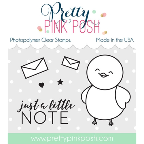 Pretty Pink Posh BIRDIE NOTES Clear Stamp Set  Preview Image